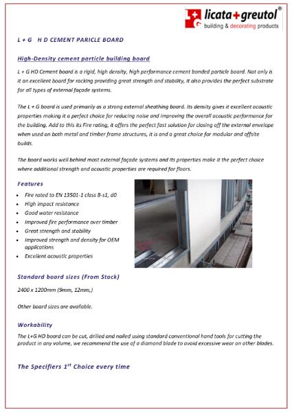Licata Heavy Duty Cement Board