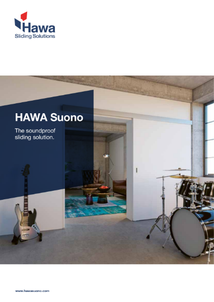 Hawa Suono sliding hardware for soundproofed doors