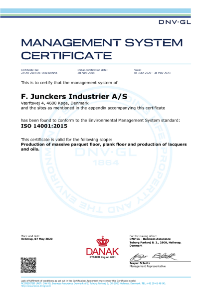 ISO14001 Certificate Management System Certificate