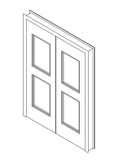 Internal Double Door, Vision Panel Style VP05