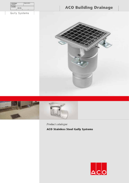 ACO Stainless Steel Gully Brochure