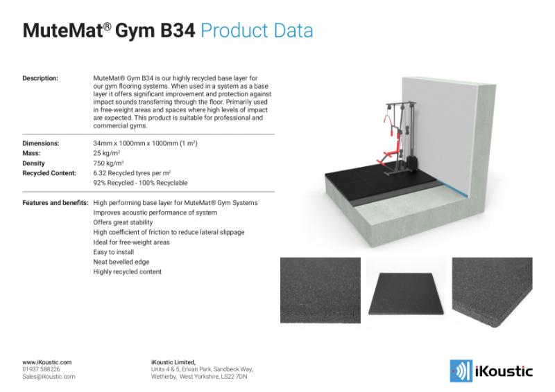 MuteMat® Gym B34