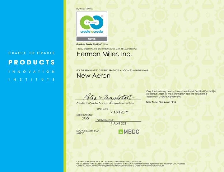 Aeron - Cradle to Cradle Silver Certification