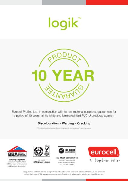 Logik 10 Year Product Guarantee