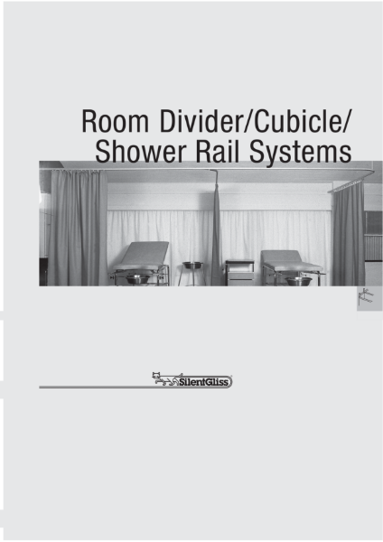 Room Divider/Cubicle/Shower Rail Systems by Silent Gliss