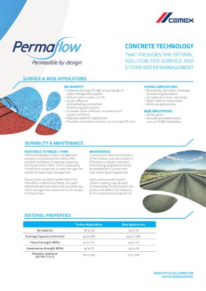 Permaflow - Permeable Concrete