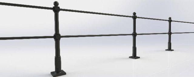 ASF Buckingham Cast Iron Post and Rail System