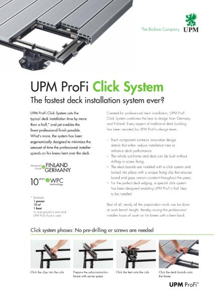 UPM ProFi Click System flyer