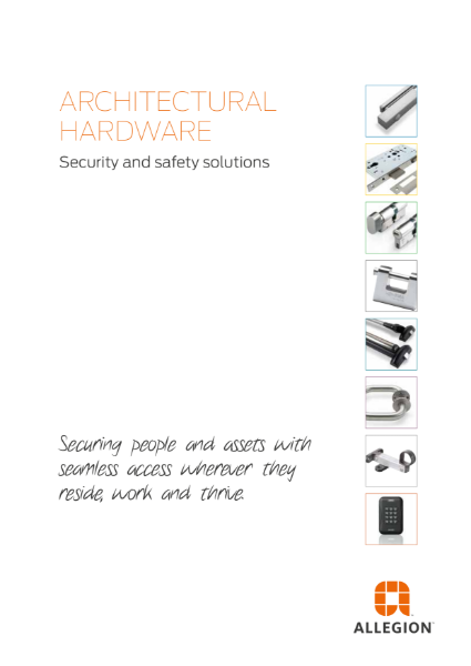 Allegion Solutions Catalogue