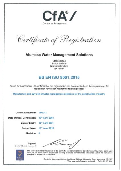 ISO 9001 - Burton Latimer site