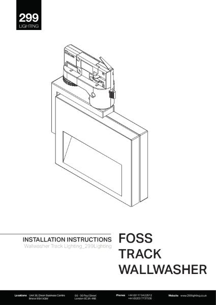 Foss Track Wallwasher Installation Instruction