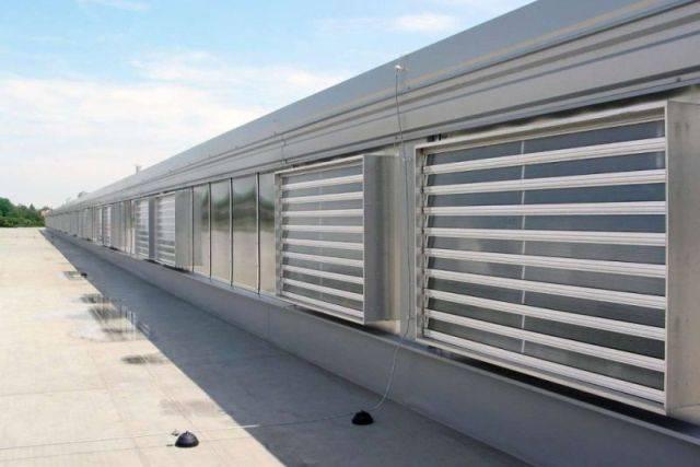 FCO natural louvred façade ventilator