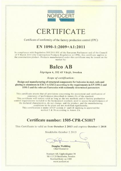 EN 1090-1:20019+ A1 2011