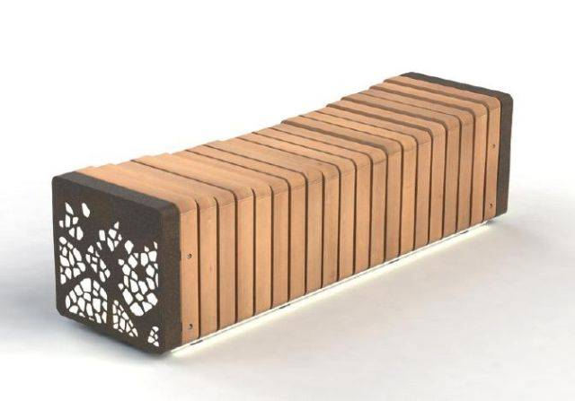 Natural Elements Collection – Standalone Bench Concave