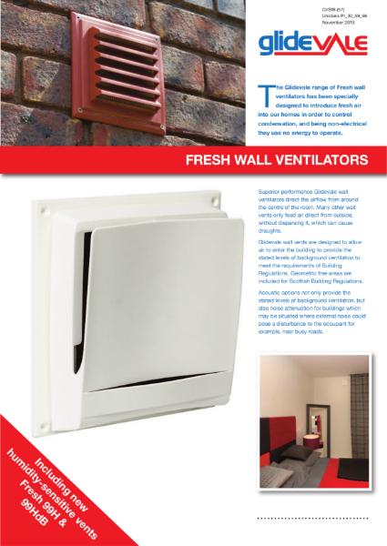 Glidevale Protect Fresh Wall Ventilators