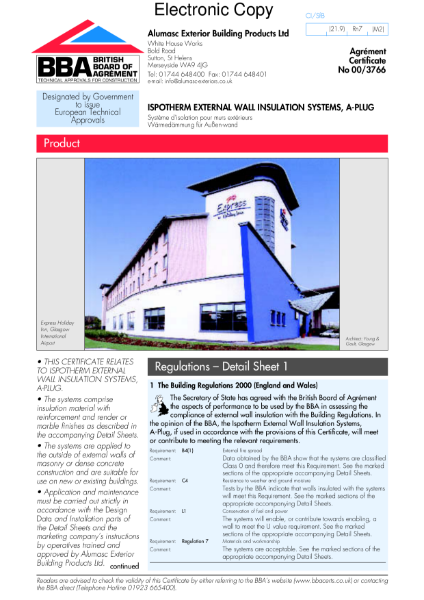 00/3766 Ispotherm external wall insulation systems