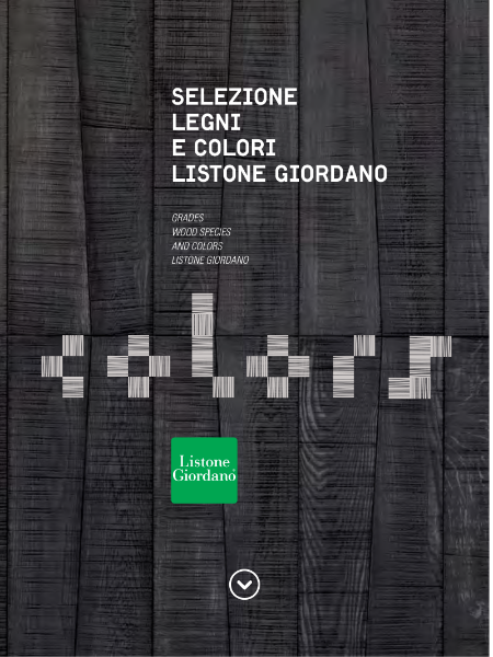 Listone Giordano Grades, Wood Species & Colours Catalogue