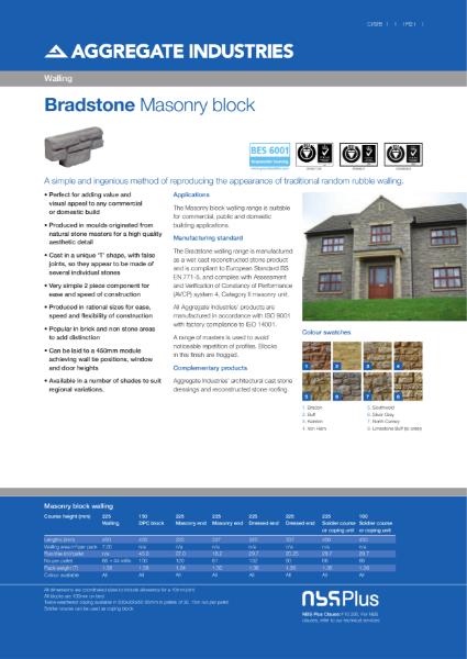 Bradstone Masonry Walling Block