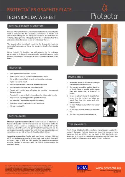 FR Graphite Plate - Firestopping Intumescent Graphite