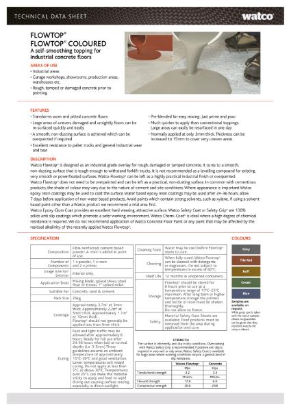 Data Sheet: Flowtop
