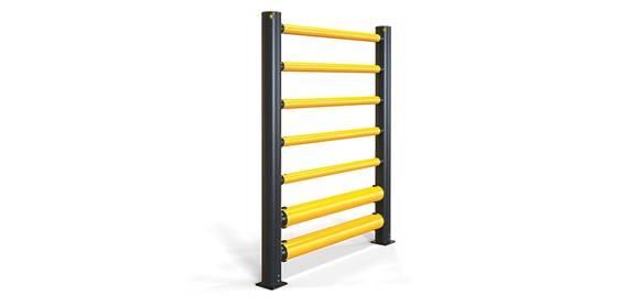 iFlex High Level Double Traffic Barrier+ 5 Rails