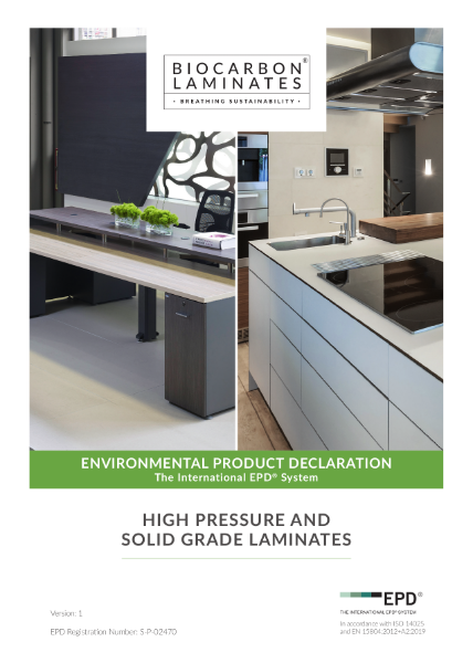BioCarbon Laminates Environmental Product Declaration (EPD)
