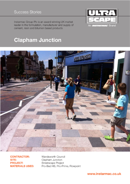 Ultrascape Mortar Paving System used at Clapham Junction