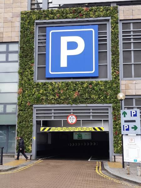 INTU car park living walls and green infrastructure, Milton Keynes