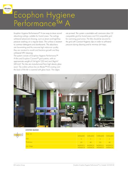Ecophon Hygiene Performance A