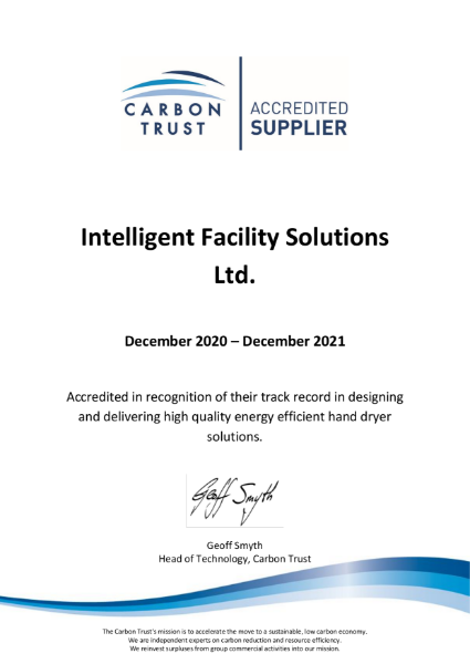 Carbon Trust Certificate - 2021