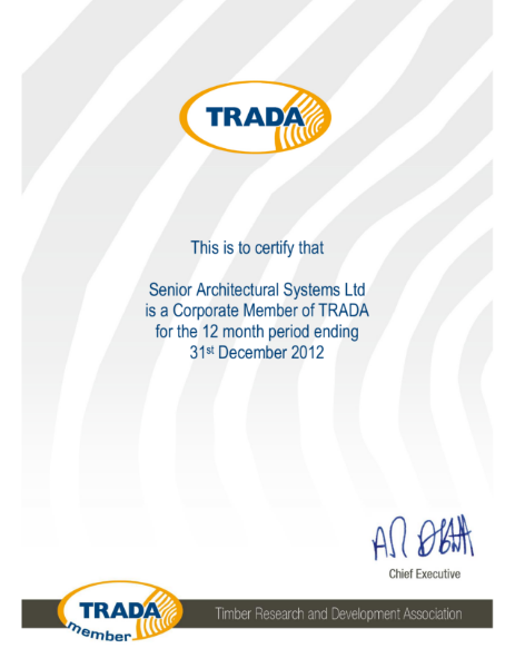 TRADA Certificate