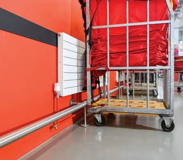 Floor Mounted Footrails