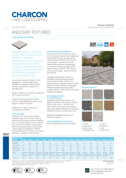 Charcon Andover Textured Flag & Block Paving