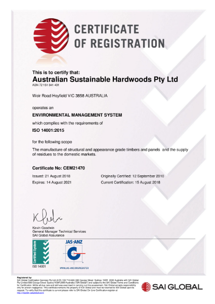 Environmental Management System - Compliance with ISO 14001:2105