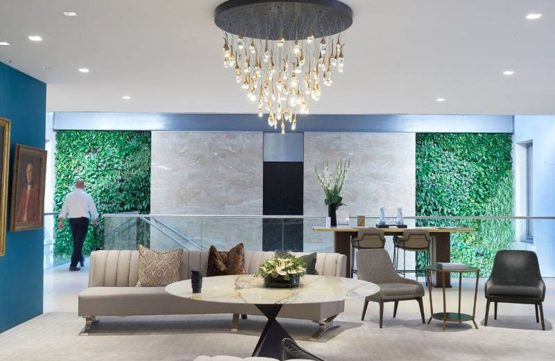 Interior Living Walls and Columns for Grosvenor Britain and Ireland
