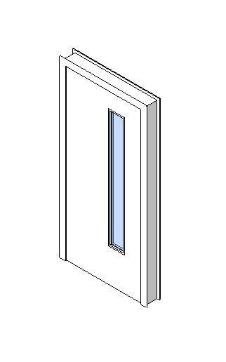 Internal Single Door, Vision Panel Style VP03