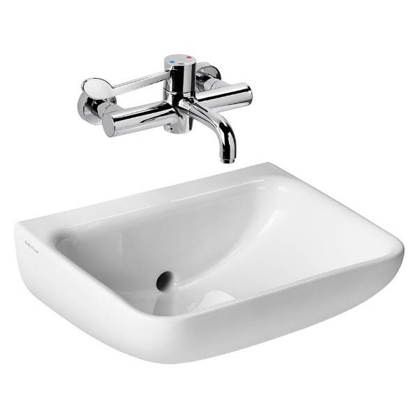Contour 21+ 50cm Back Outlet Washbasin, Left or Right Hand Tap Holes