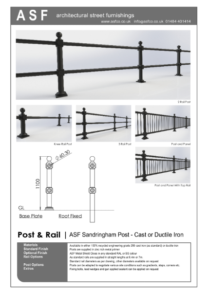 ASF Sandringham Cast Iron Post