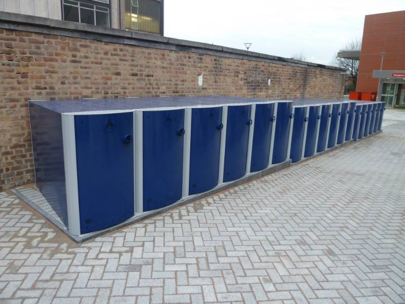 Velo-Safe lockers at the Royal London Hospital