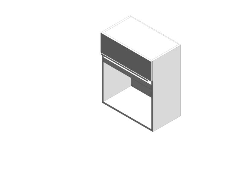 Linear Microwave Wall Cabinet - Std