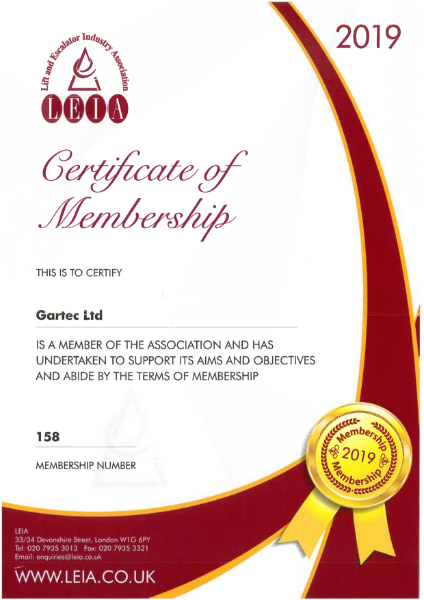 LEIA (Lift & Escalator Industry Association) Membership