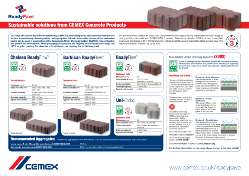 Sustainable solutions from CEMEX Concrete Products