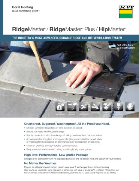 RidgeMaster Plus & HipMaster Brochure