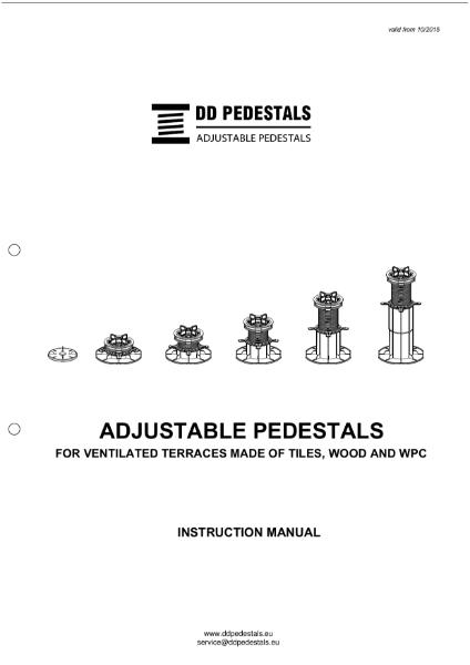 DD Adjustable Pedestal Installation Guide