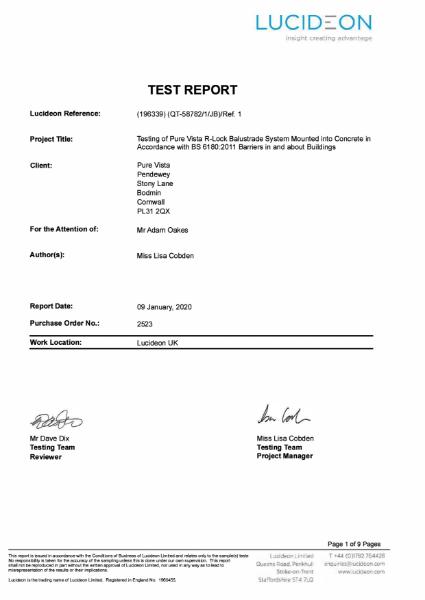 R-LOCKedge74 Test Report Concrete