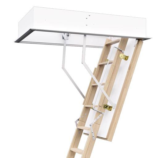 Profiline F30/ F30 Plus/ F60 Fire Rated Wooden Loft Ladder