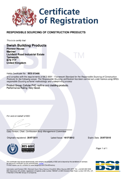 BES 6001 - Responsible Sourcing of Construction Products