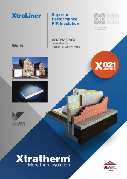 Insulation for Partial Fill Cavity Walls (XO/CW)