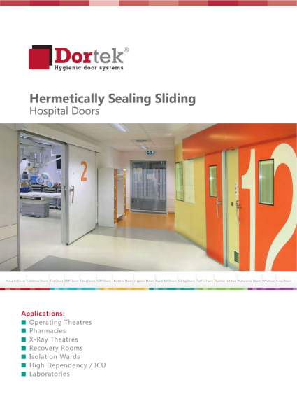 9.4. Dortek Hermetically Sealing Sliding Hospital Door