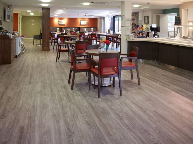 Polyflor flooring helps create stylish café at Belong Warrington care village